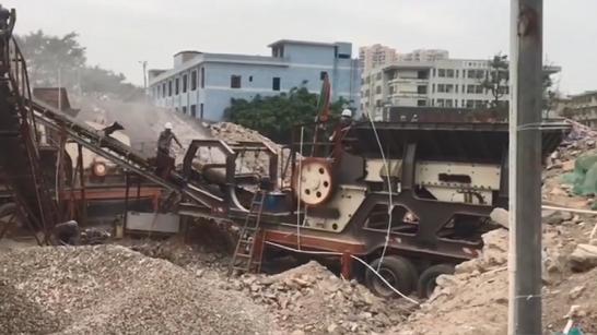 移动建筑垃圾破碎机